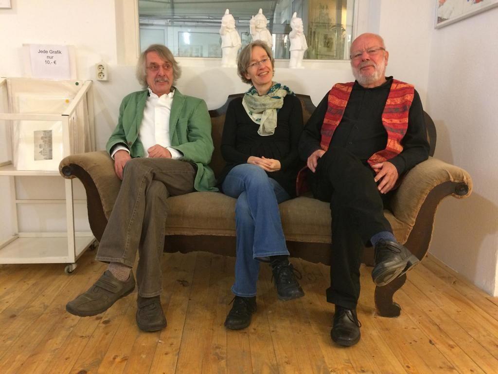 Martin Heberlein, Ulrike Schäfer und Hanns Peter Zwißler